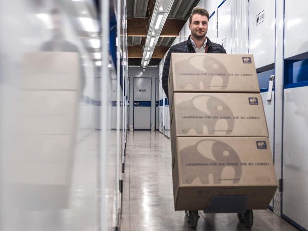 Lagerraum Bochum – kostenloser Rollwagen