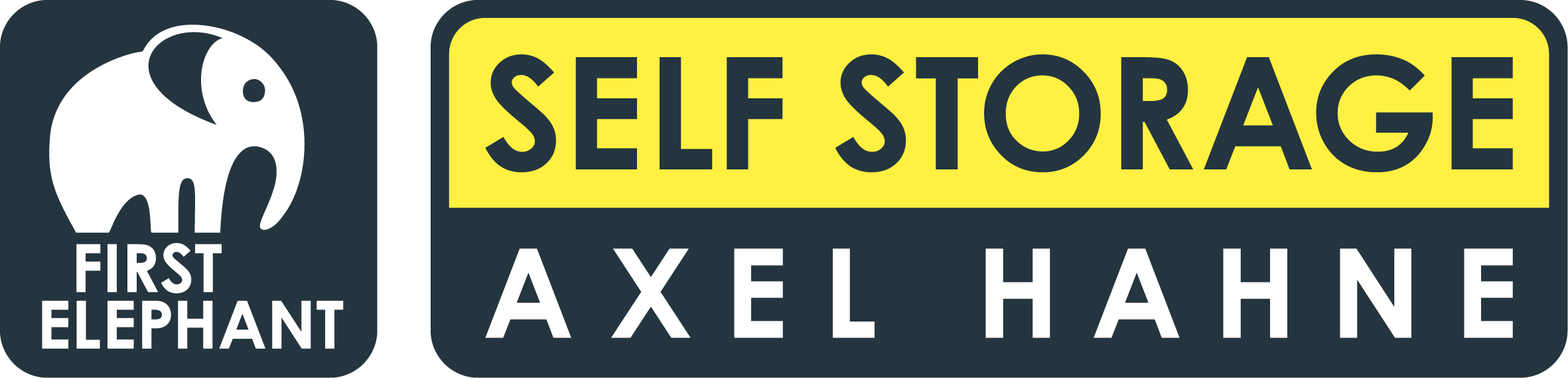 logo axel hahne self storage first elephant